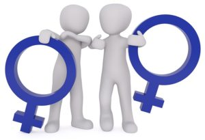 Image shows gender equality facts mann to woman