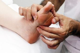 Image show what reflexology is.