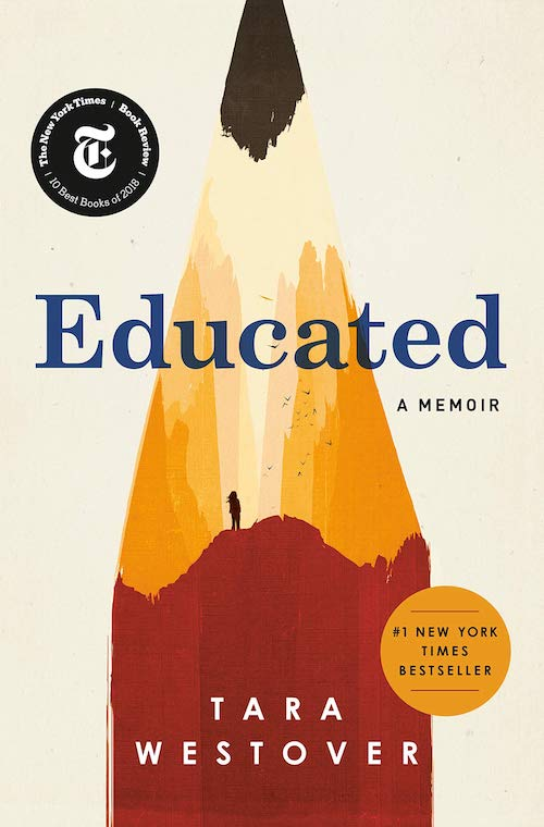 Cover of the book: Educated: A Memoir.