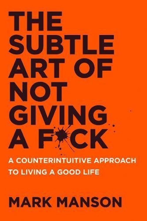 Cover image of The Subtle Art of Not Giving a F*ck. 1st of our books to read!