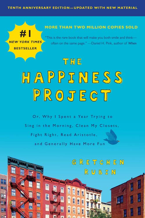 Cover of the book: The Happiness Project.