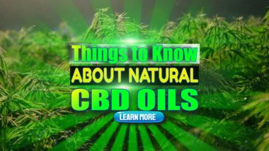 """Featured image text: """"Things to know about natural CBD Oils""""."""