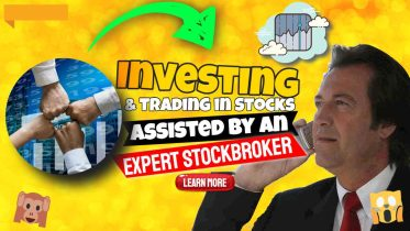 """Image text: """"Investing and trading in stocks""""."""
